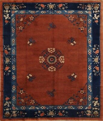 collectible antique decorative 8x10 wool art deco chines oriental area rug!
