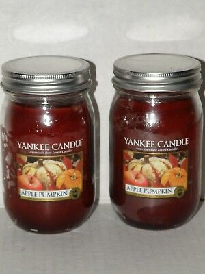 Yankee Candle Apple Pumpkin Canning Jar Candles Set Of 2 Nwts Rare