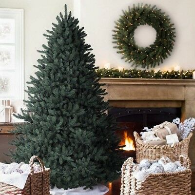 7ft Christmas Tree Blue Classic Spruce Artificial Pvc Indoor Holiday Balsam Hill