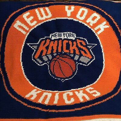 New York Knicks Crochet Afghan Blanket Throw