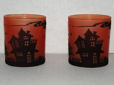 Yankee Candle Haunted House Votive Holder Set 2008 Very Rare