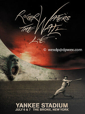 Roger Waters The Wall Yankee Stadium Le Concert Poster  #810/3000 Free Shipping*