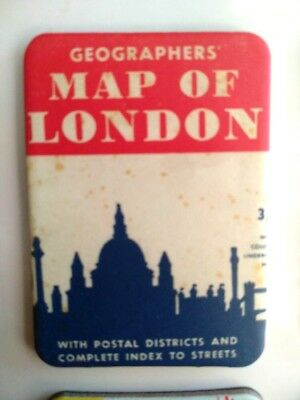 Vintage Fridge Magnet For Refrigerator With Geographers Map Of London Cover