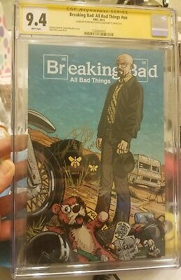 Breaking Bad All Bad Things #nn Comic Book Cgc 9.4 Super Rare! Le Only 500 Made!