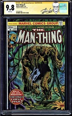 Man-thing #1 Cgc 9.8 White Ss Stan Lee 2nd App Of Howard The Duck #0351061009