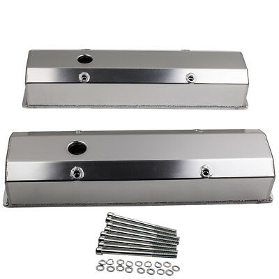 For Chevy 350 Small Block 1958-1986 Sbc Fabricated Long Bolt Valve Covers Satin