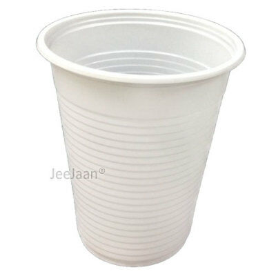 6000 X White Disposable Plastic 7oz Cups Cold Drink Tumbler Water Juice Party