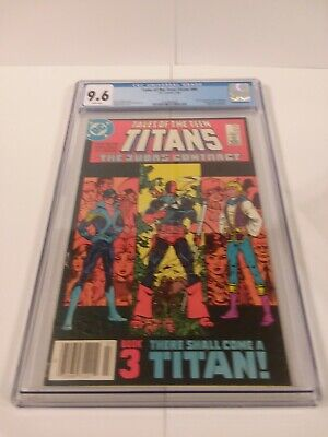 Tales Of The Teen Titans 44 Cgc 9.6 1st Nightwing & Jericho Deathstroke Origin