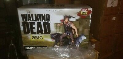 The Walking Dead Twd Gentle Giant Daryl Dixon With Wolves Statue Artist Proof