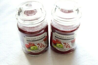 (2) Yankee Candle Apple Pomegranate Large Jar Home Inspiration Lot 538g Fall