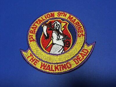 """1st Battalion 9th Marines """"the Walking Dead"""" Patch"""