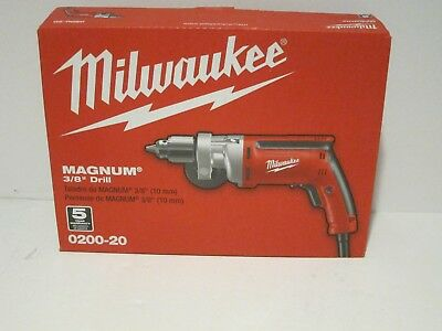 """Milwaukee 0200-20 3/8"""" 1200 Rpm Magnum Drill Free Fast Priority Shipping Nisb!!!"""