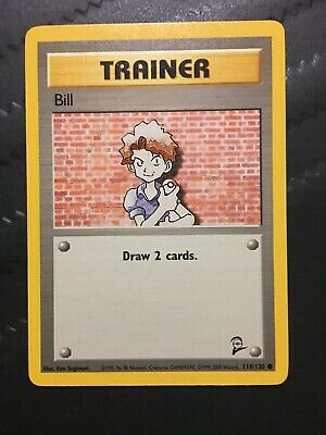Bill # 118/130 Base Set 2 Pokemon TCG Game Trading Cards Trainer Near Mint