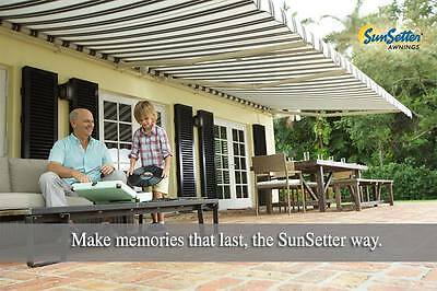 Sunsetter Motorized Retractable Awning, 17 Ft. Xl Model, Deck & Patio Awnings
