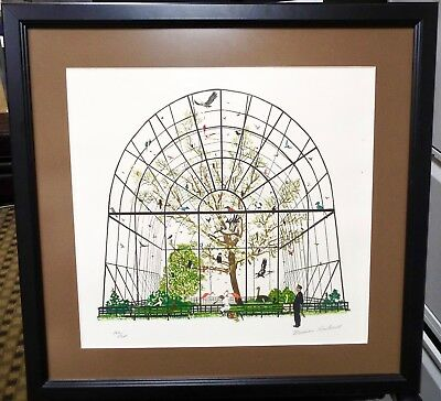 Norman Rockwell - Aviary Birds Lithograph - Hand Signed & Numbered - Framed