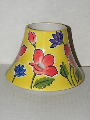 Yankee Candle Yellow Floral Ceramic Jar Candle Shade By Michael Sparks Nwts