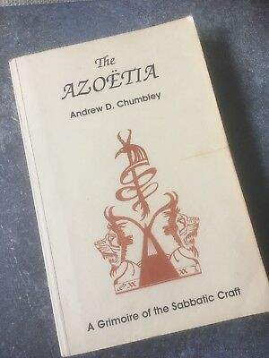 Azoetia A Grimoire Of The Sabbaticccraft 1st Edition Signed By Andrew Chumbley