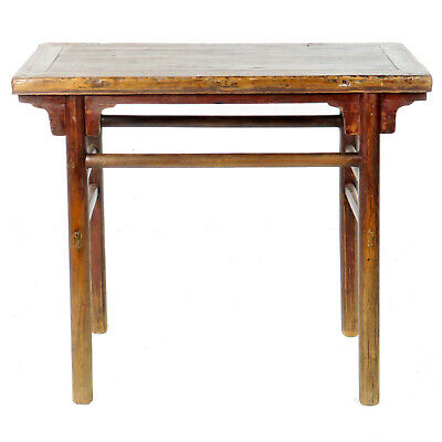 "antique chinese rustic wine hall table, vanity 40"" wide, 20"" deep, 34"" tall"
