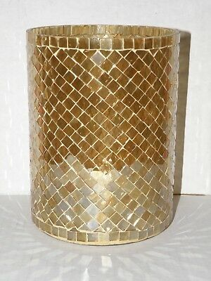 Yankee Candle Gold Mosaic Jar Holder Brand New In Box Gorgeous And Very Rare