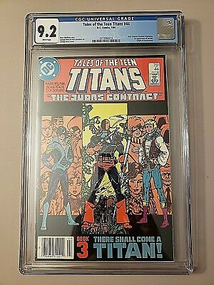 Tales Of The Teen Titans #44 Cgc 9.2 White Pages Newsstand 1st Nightwing Jericho
