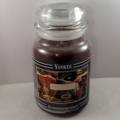 Yankee Candle Patchouli Black Band 22 Oz Jar Housewarmer New Old Stock