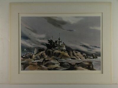 Rex Brandt Harbor Sentinel Limited Edition Pencil Signed Lithograph Free Shippng