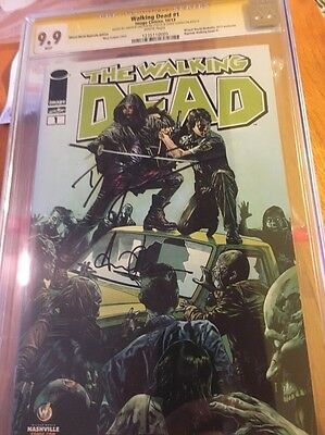 Walking Dead #1  Nashville Edition  Cgc 9.9  Rick And  Michonne Signed  Cgc 9.9