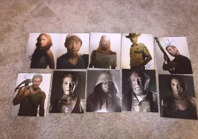 The Walking Dead Cast Signed 8x10 Photo Lot Andrew Lincoln Norman Reedus