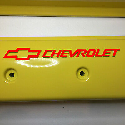 Chevy Small Block Zz6/vortec Center Bolt  Holley 241-290 Yellow W/ Red Letters