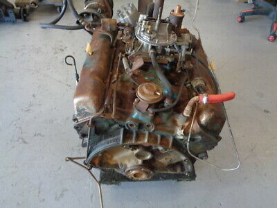 1974 Javelin Jeep Complete 304 Engine V-8 Heads Intake Manifold Block Carburator