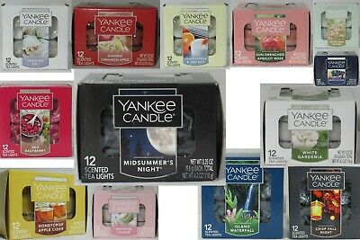 Yankee Candle 12 Scented Tea Light T/l Box Candles U Pick Scent Fruit Floral
