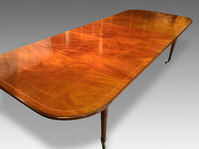 Rare Exquisite 9.7ft Grand Regency Style Cuban Mahogany Table French Polished