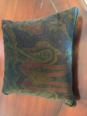 Polo Ralph Lauren Anglesey Plum Powell Paisley Velvet Throw Pillow - New