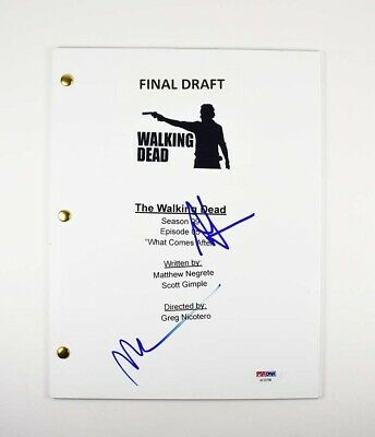 Walking Dead Andrew Lincoln Norman Reedus Signed Autographed Script Psa/dna