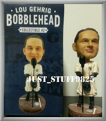 One (1) Lou Gehrig Bobblehead Sga New Extremely Rare Yankee Stadium Giveaway