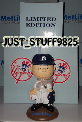 One (1) Charlie Brown Bobblehead Sga New Extremely Rare Yankee Stadium Giveaway