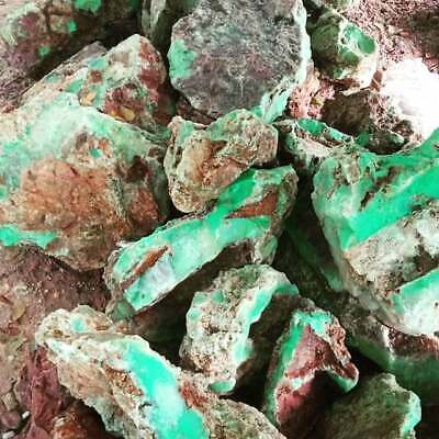 1 To 20kg Lot Natural Untreated Rough Chrysoprase Chalcedony Apple Green