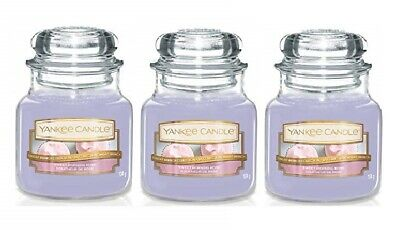 Yankee Candle Sweet Morning Rose Small Jar Candle Single Wick - Lot Of 3