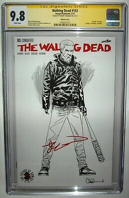 Walking Dead #163 Negan Sketch Variant Signed By Robert Kirkman Ss Cgc 9.8