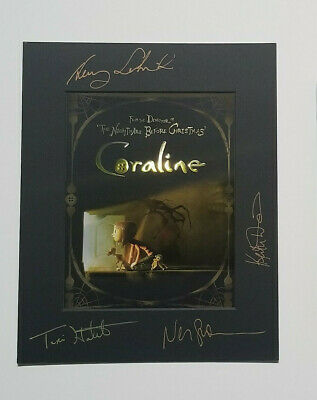 Coraline Signed Promo Frame + Signed Nightmare Before Christmas Dvd Neil Gaiman