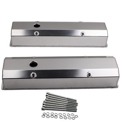 Valve Covers Fit Chevy 283 302 327 350 400 Sbc 1958-1986 Small Block Long Bolt