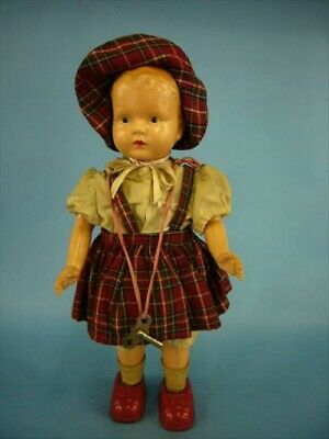 1950s Walking Doll Celluloid & Tin Mainspring Vintage Figure Toy[99]