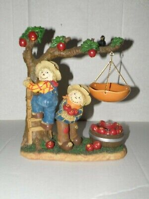 Yankee Candle Scarecrows And Tree Hanging Tart Burner Nwts Rare