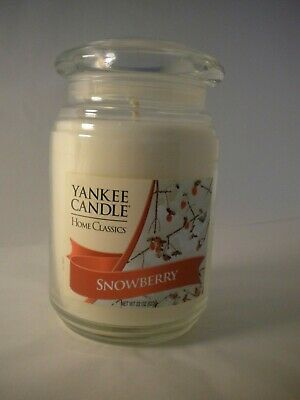New Yankee Candle Home Classics 22 Ounce Snowberry Jar Candle Retired