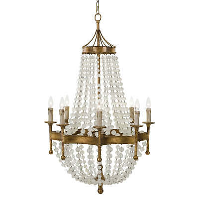 Regina Andrew 16-1056 Frosted Crystal Bead Chandelier