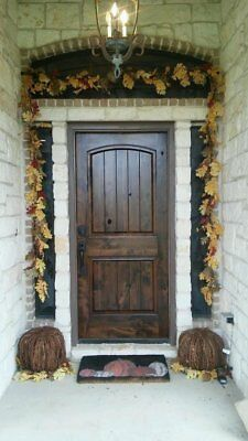 8ft Rustic Pre-finished Arch Top Knotty Alder Single Entry Door