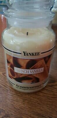 Yankee Candle - French Vanilla  22 Oz Black Banded - Very Rare - Hard To Find