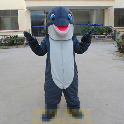 Hot Selling Dolphin Adult Mascot Costume Fancy Dress Walking Doll Free Shipping