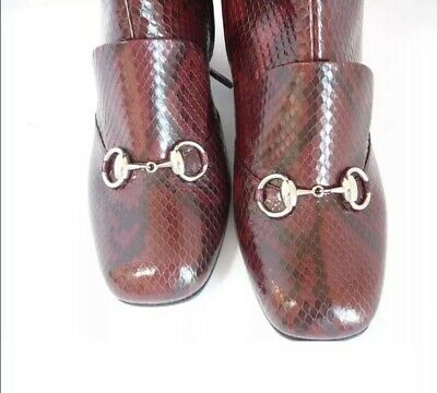 Gucci 39.5 Lillian Burgundy Python  Boots. Sold Out!! $3500