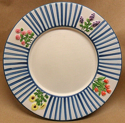 """Yankee Candle Plate Porcelain 7"""" Wide For Jar Or Pillar Candles Blue"""